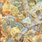Background , orange siderite on quartz and Brazilian old man